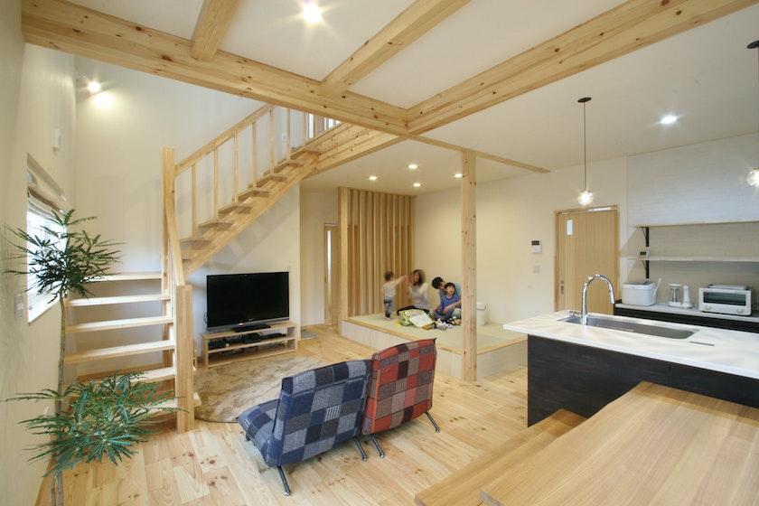 【富山】株式会社マイホームタナカ_無駄なスペースを無くし、家中を有効活用した、ぬくもり溢れる家
